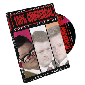 100 percent Commercial Volume 1 - Comedy Stand Up by Andrew Normansell - DVD