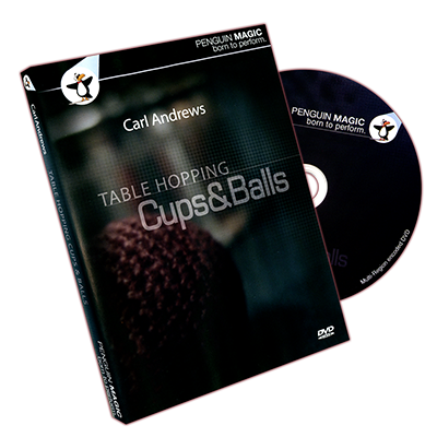Table Hopping Cups And Balls by Carl Andrews - DVD