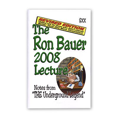 Ron Bauer 2008 Lecture Notes (Revised Edition) - Book